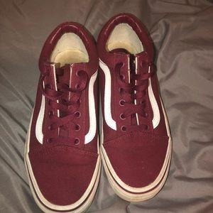 Shoes - maroon vans